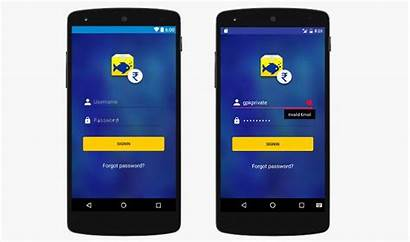 Android Login Material Form App User Screen