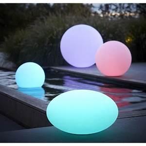 Boule Led Exterieur : boule lumineuse ronde 60 cm lampe de jardin design achat vente statue statuette boule ~ Teatrodelosmanantiales.com Idées de Décoration