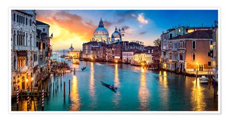 Posters et tableaux de Grand Canal à Venise la nuit