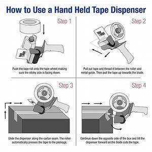 Scotch Packing Tape Dispenser How To Load Diagram