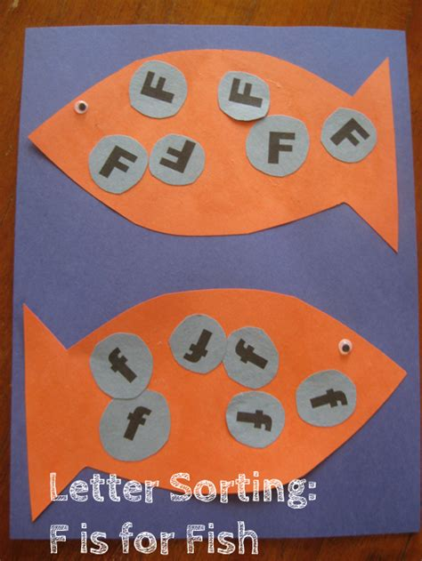 letter sorting f is for fish alphabet activities for 713 | 62570124513dd6e4f26b7a78fd8c761e