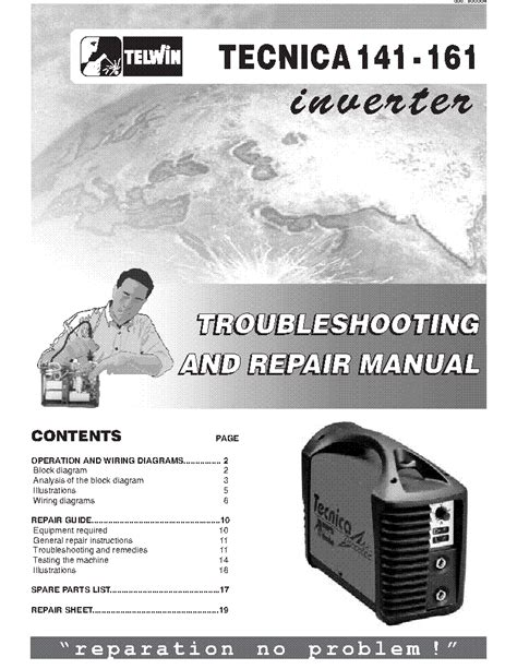 telwin tecnica 141 161 welding inverter sm service manual schematics eeprom repair
