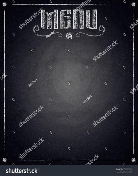menu restaurant  black chalkboard background stock