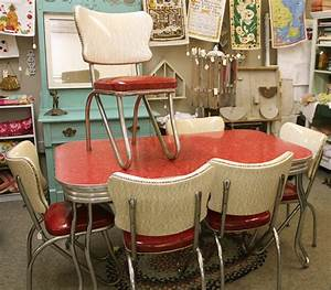 Red Retro Kitchen Table Chairs When Red Become A