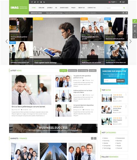 Templates Free Download Joomla 3 7 by Top 10 Awesome Free Premium News Magazine Joomla 3 7