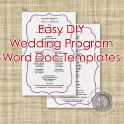 wedding program templates margotmadison diy wedding program word doc templates now available