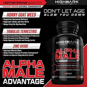 Alpha Male Natural Testosterone Booster For Men By Highmark Nutrition  Libido Enhancer Dietary