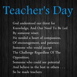 Teachers Day Poems in English