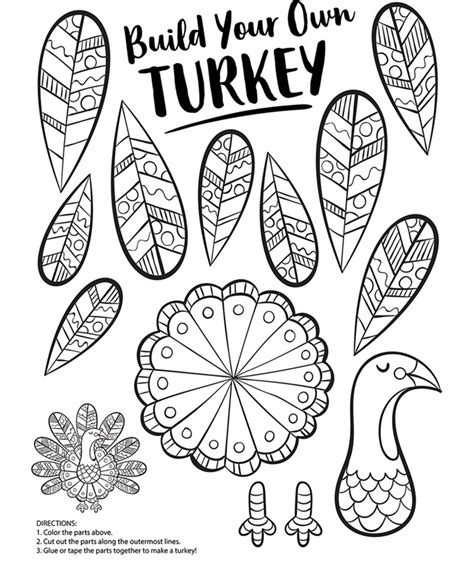how to color a turkey build your own turkey coloring page crayola