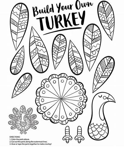 Turkey Coloring Pages Crayola Own Build Thanksgiving