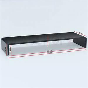 Tv glasaufsatz glas tisch tv aufsatz monitor erh hung lcd for Monitor tisch