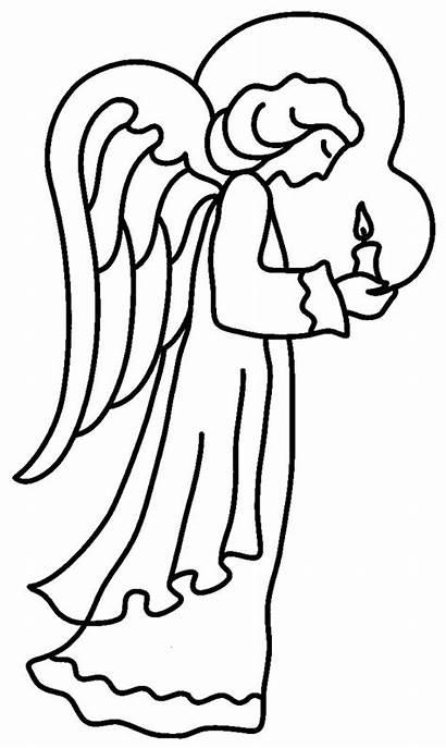 Angel Christmas Angels Coloring Drawing Symbols Printable