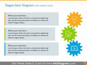 17 Modern Process Gears Diagrams Powerpoint Template