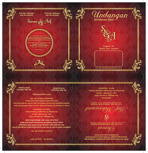 desain undangan pernikahan elegan format