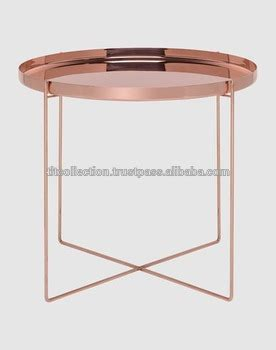 rose gold bedside table copper side table iron side table rose gold side table