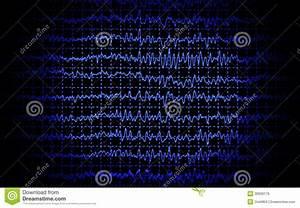 Brain Wave Eeg Isolated Stock Illustration  Illustration