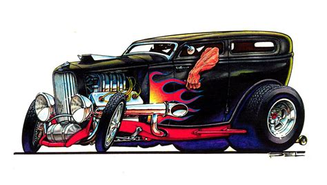 cartoon hot rods illustrations cartoons  hot rods