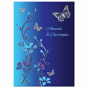Wedding invitation royal blue turquoise mauve flowers for Royal blue and turquoise wedding invitations