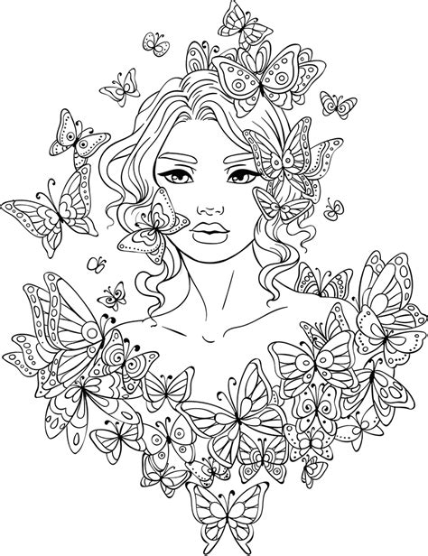 Artsy Coloring Pages Line Artsy Free Coloring Page Butterflies Around