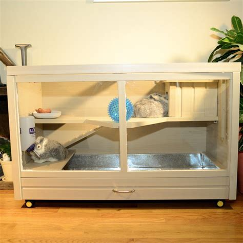 Indoor Wooden Rabbit Hutch - rabbit hutch indoor small animal cage house habitat mouse