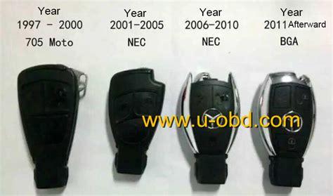 Mercedes-benz Bga Smart Remote Key 434mhz~315mhz 3 Buttons