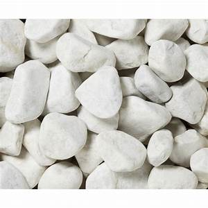 Galets en marbre mat blanc 30 50 mm 25 kg leroy merlin for Decoration pour jardin exterieur 5 cuisine quartz noir