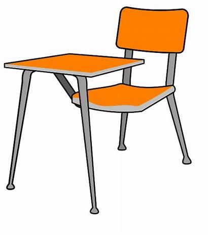 Desk Clip Student Clipart Table Pupitre Vector