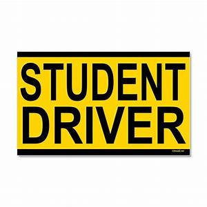student driver car magnet 20 x 12 by qdshop With kitchen colors with white cabinets with student driver sticker