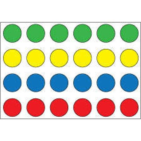 color dots confident alert wristband colored dots paper labels x