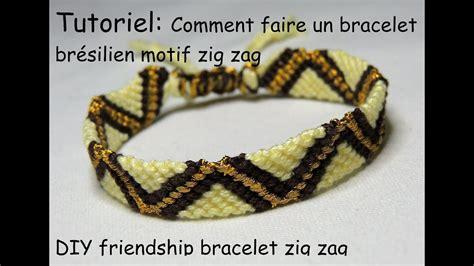 comment faire des bracelets élastiques comment faire un bracelet br 233 silien motif zig zag diy friendship bracelet zig zag