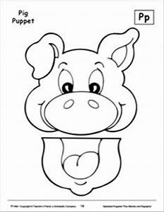 image result for animal paper bag puppets templates With pig puppet template