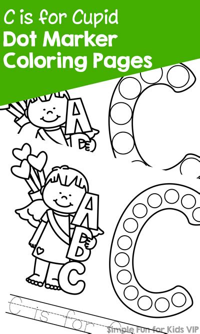 cupid dot marker coloring pages simple fun