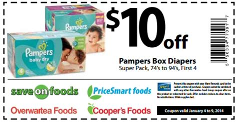pampers coupons deals