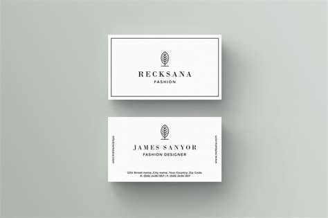 recksana business card template business card templates creative market
