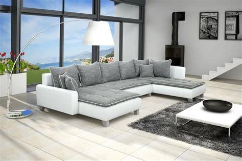 deco salon canape gris salon moderne blanc