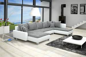 emejing canape salon moderne contemporary ridgewayngcom With canape gris moderne