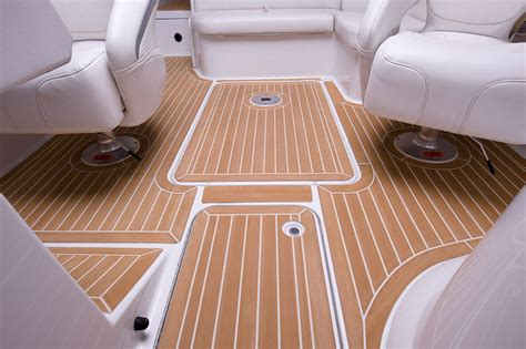 Teak Flooring For Boats by Synthetic Water Resistant Teak Boat Decking Our Synthetic