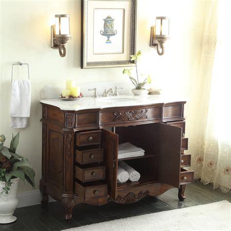 Adelina 56 Inch Antique Style Bathroom Vanity, Fully