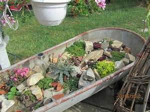 Zinkwanne Als Teich : steingarten in zinkbadewanne steingarten garten badewanne garten und steingarten ~ Pilothousefishingboats.com Haus und Dekorationen
