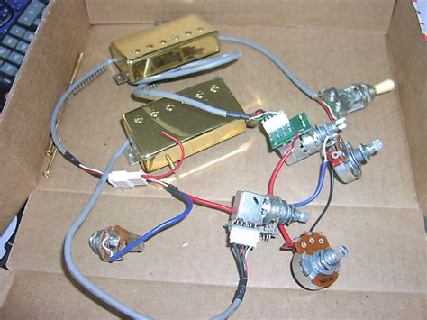 epiphone les paul pro wiring harness with probucker pickups reverb
