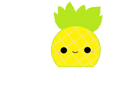 drawn pineapple kawaii pencil   color drawn