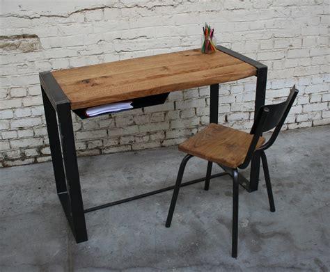 bureau metal bois bureau metal bois