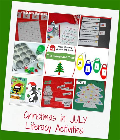 mega in july theme for preschool the 784 | Christmas In July Literacy Activities 877x1024