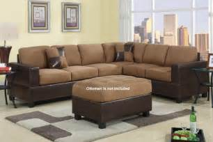 modern tan brown microfiber sectional sofa couch furniture