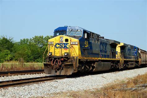 CSX Train Railroad Crossing