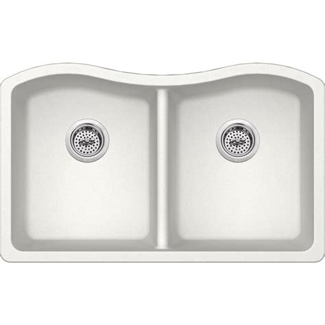white composite kitchen sinks ipt sink company undermount granite composite 33 in 50 50 1278