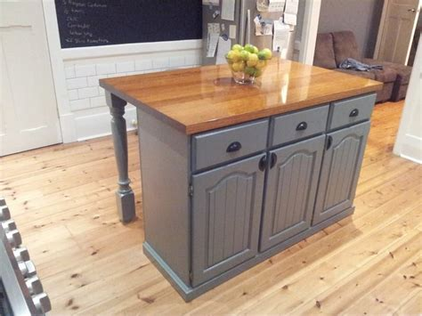 used kitchen island for diy created this by using the bottom half of the kitchen 8790