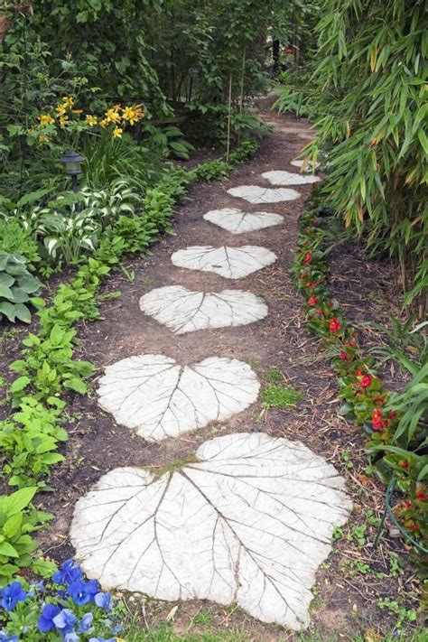 17 best ideas about leaf stepping stones on