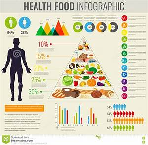 Health Food Infographic  Food Pyramid  Healthy Eating