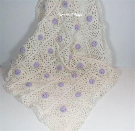 copertine neonato copertina neonato margheritine 3 d lilla fatta a mano a